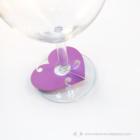 Írható papír pohár jelölő szív, több színben