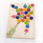 Egyedi vendégkönyv 3D pezsgő, több színben