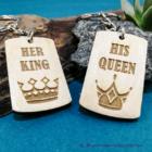 His Queen, Her King páros kulcstartó