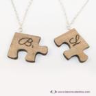 Puzzle páros nyaklánc