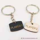 Player 1, Player 2, páros kulcstartó