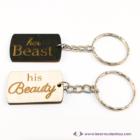 His Beauty, Her Beast páros kulcstartó