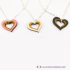 Szív a szívben gravírozott nyaklánc, több színben