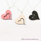 Szív a szívben vágott nyaklánc, több színben