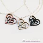 Labirintus szív nyaklánc, több színben