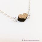 Mini diófa szív karkötő