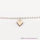 Mini nyírfa szív karkötő, több színben