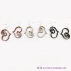 Rajzolt szívecske fülbevaló, több színben