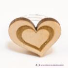 Szív a szívben gravírozott gyűrű, több színben