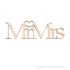 Mr és Mrs akasztható és lógatható felirat, több színben