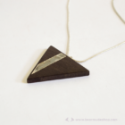 Ében háromszög nyaklánc