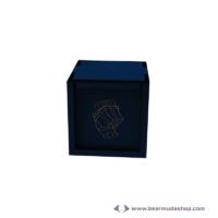 Egyedi mintás fa doboz, négyzet alapú 10x10, több színben