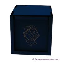 Egyedi mintás fa doboz, négyzet alapú 22x22, több színben