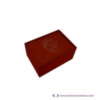 Egyedi mintás fa doboz, téglalap alapú 14x10, több színben