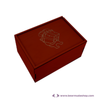 Egyedi mintás fa doboz, téglalap alapú 22x16, több színben
