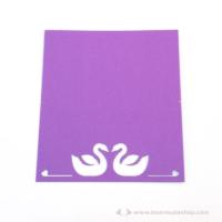 Írható ültető kártya hattyú, több színben