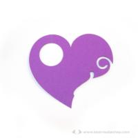 Írható pohár jelölő szív, több színben