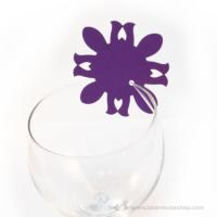 Írható pohár jelölő virág, több színben