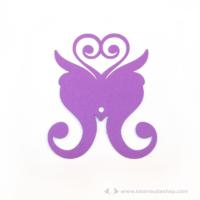 Írható pohár jelölő pillangó, több színben