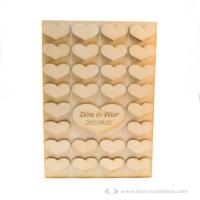 Egyedi vendégkönyv 3D szívek