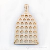 Egyedi vendégkönyv 3D palackposta