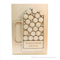 Egyedi vendégkönyv 3D söröskorsó