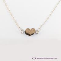 Mini diófa szív nyaklánc