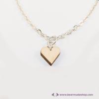 Mini nyírfa szív nyaklánc
