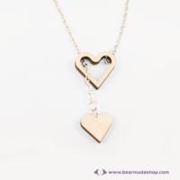 Szívből szívecske nyaklánc