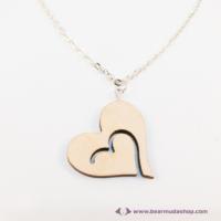 Szív a szívben vágott nyaklánc