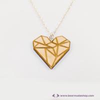 Geometrikus szív nyaklánc