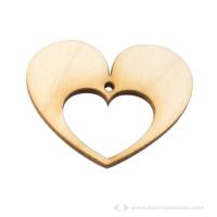 Fa kivágott szív ékszer alapok