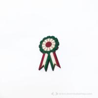 Kokárda zöld fehér piros kitűző