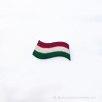 Nemzeti zászló kitűző