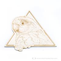 Papagáj gravírozott falidekor