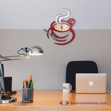 Kávéscsésze dekor falióra, több színben