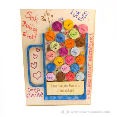 Egyedi vendégkönyv 3D söröskorsó, több színben