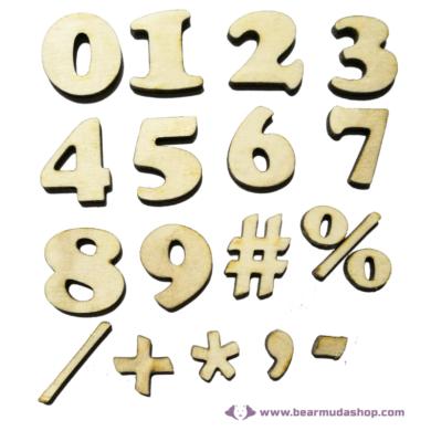 Fa Szám Serif 3 cm