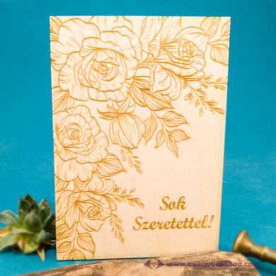 Sok szeretettel üdvözlőkártya, több színben