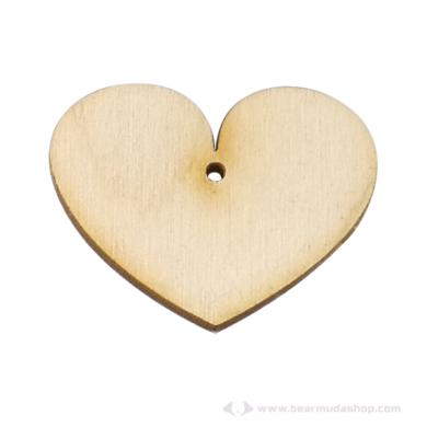Fa szív ékszer alapok