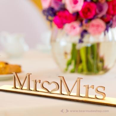 Mr és Mrs álló felirat, több színben