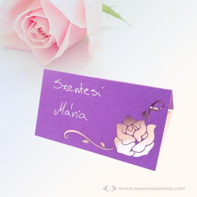 Írható papír ültető kártya rózsa, több színben