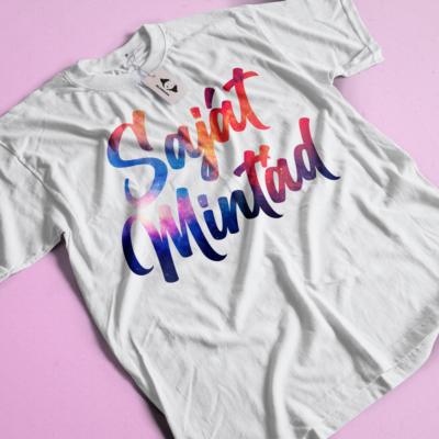 Egyedi mintás, fényképes szublimációs női póló, több méretben