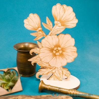 Gravírozott Virág, több színben