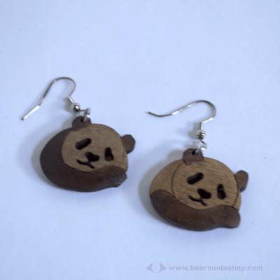 Panda fülbevaló
