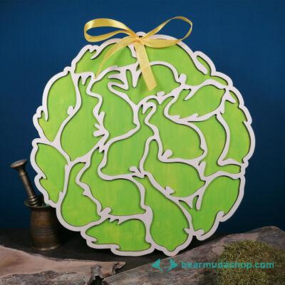 Soknyuszis húsvéti kopogtató ajtódísz, fali dekoráció több méretben és színben