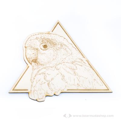 Papagáj gravírozott falidekor, több színben