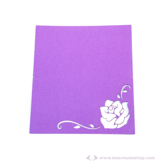 Írható ültető kártya rózsa, több színben