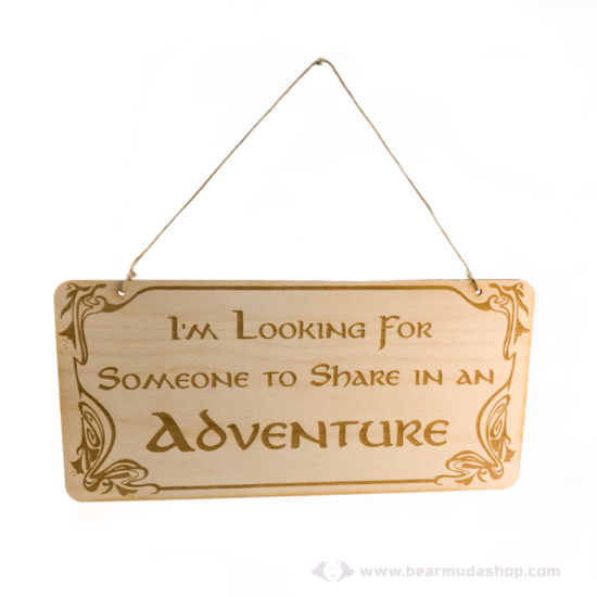 Gyűrűk Ura témájú akasztható ajtó tábla adventure
