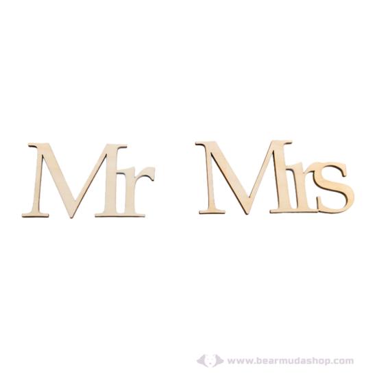 Mr és Mrs székre köthető feliratok